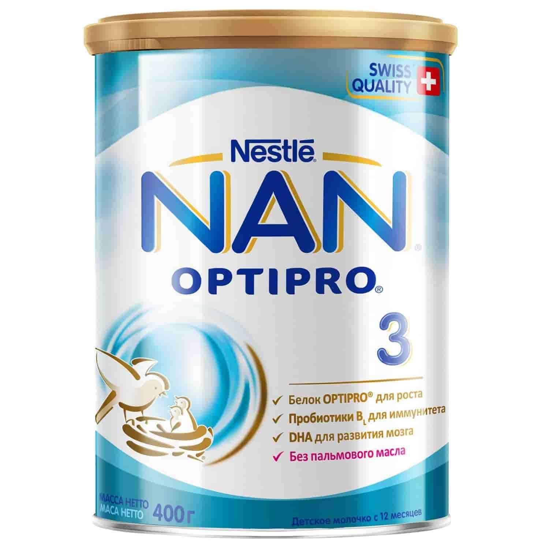Детское молочко Нан Optipro 3 с 12 месяцев, 400 г