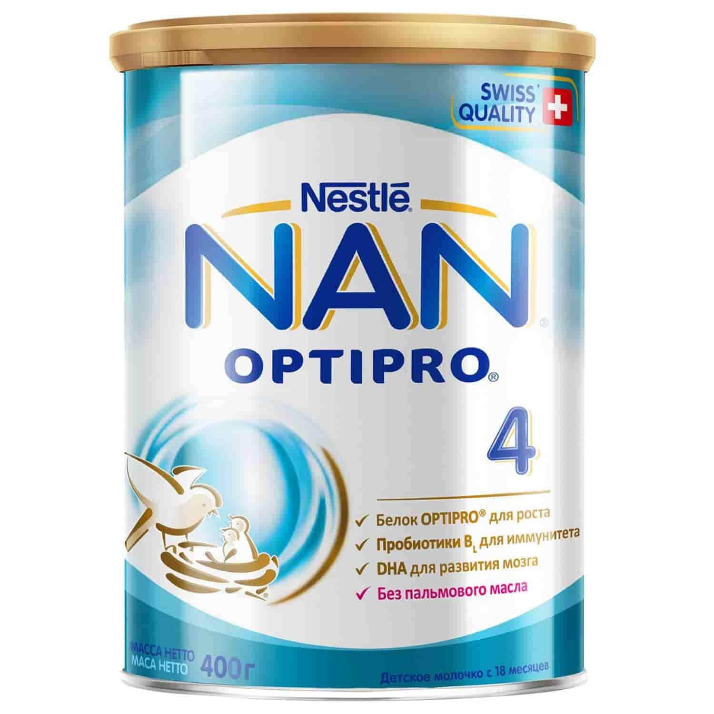 Детское молочко Нан Optipro 4 с 18 месяцев, 400 г