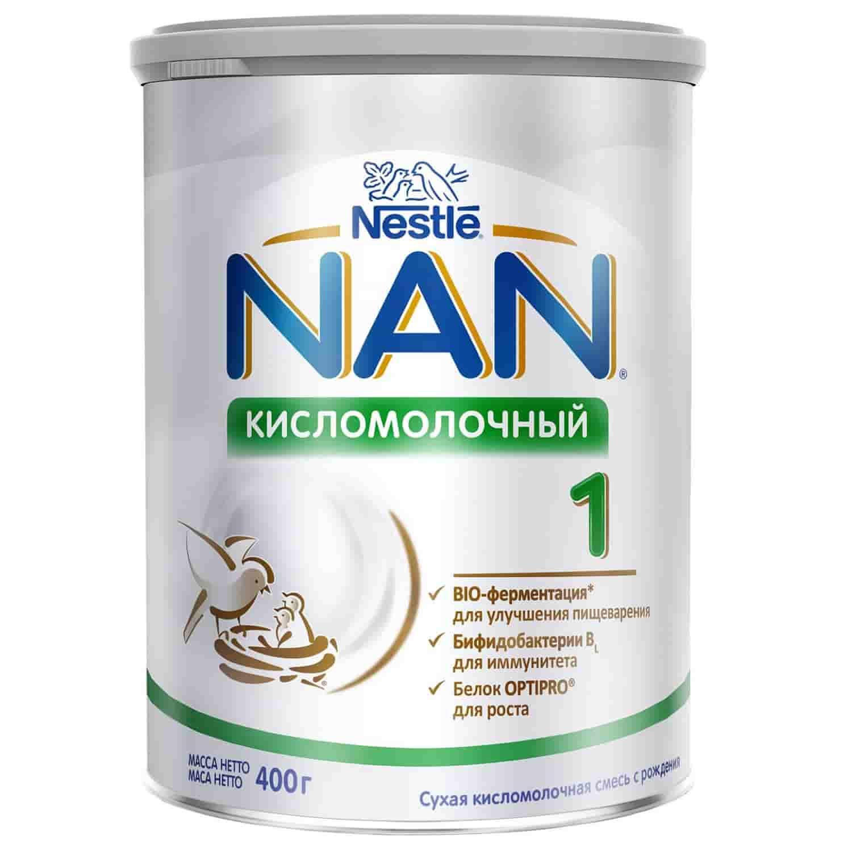 Молочная смесь Нан Кисломолочный 1 0-6 месяцев, 400 г