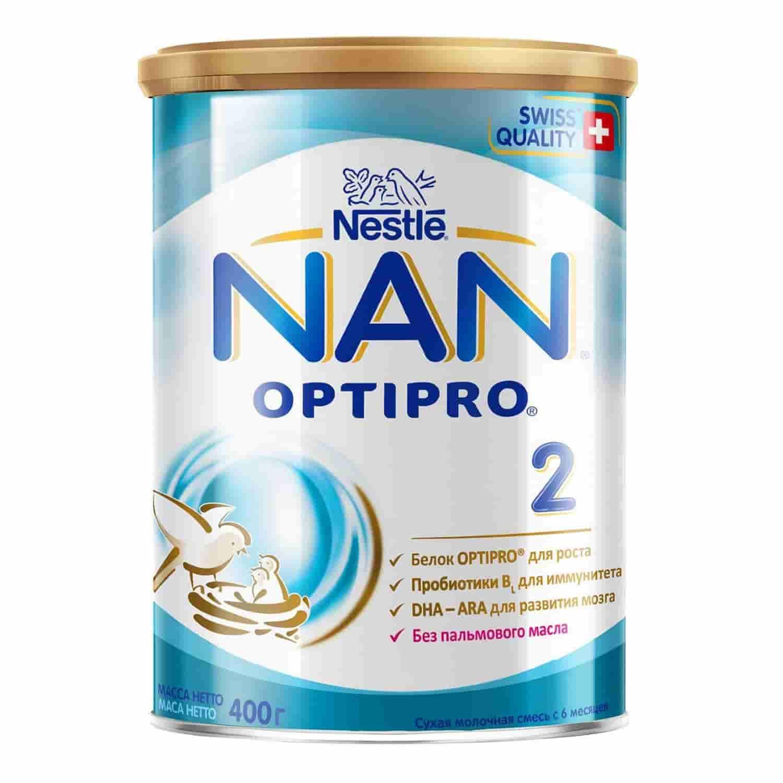 Молочная смесь Нан Optipro® 2 6-12 месяцев, 400 г
