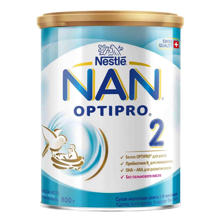 Молочная смесь Нан Optipro 2 6-12 месяцев, 800 г