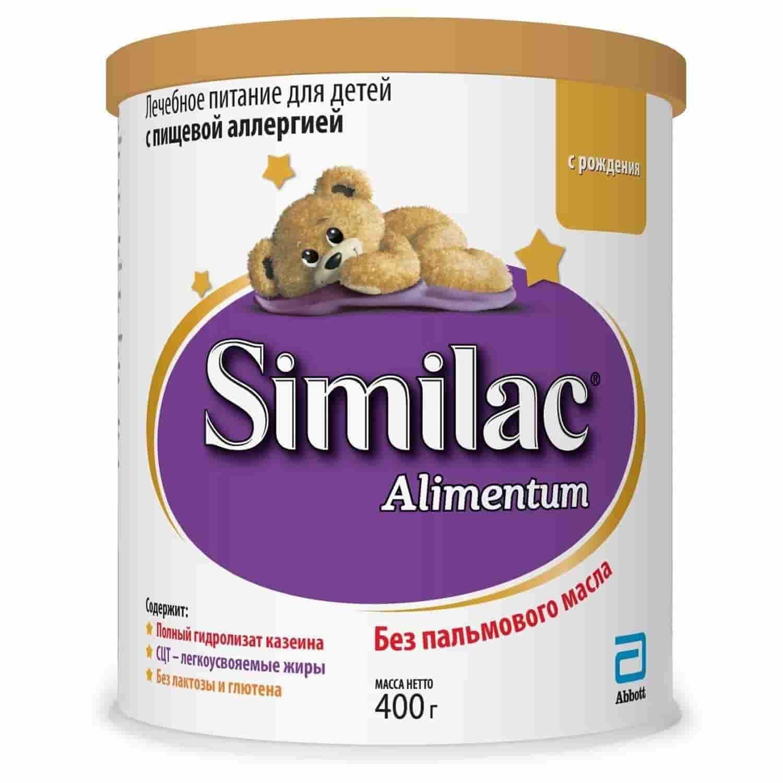 Молочная смесь Симилак Alimentum безлактозная гипоаллергенная 0-6 месяцев, 400 г