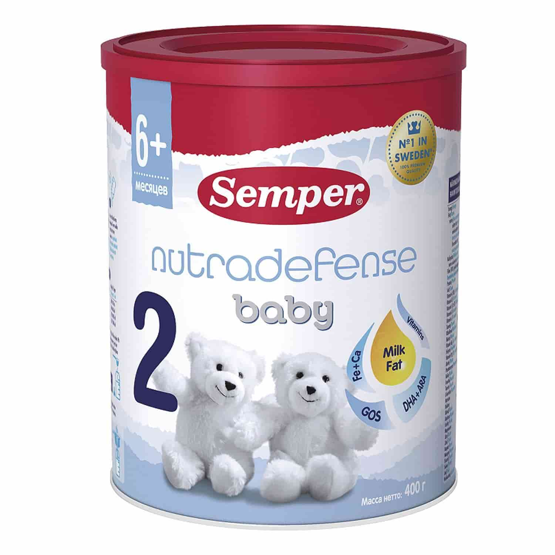 Молочная смесь Сэмпер Nutradefense 2 6-12 месяцев, 400 г