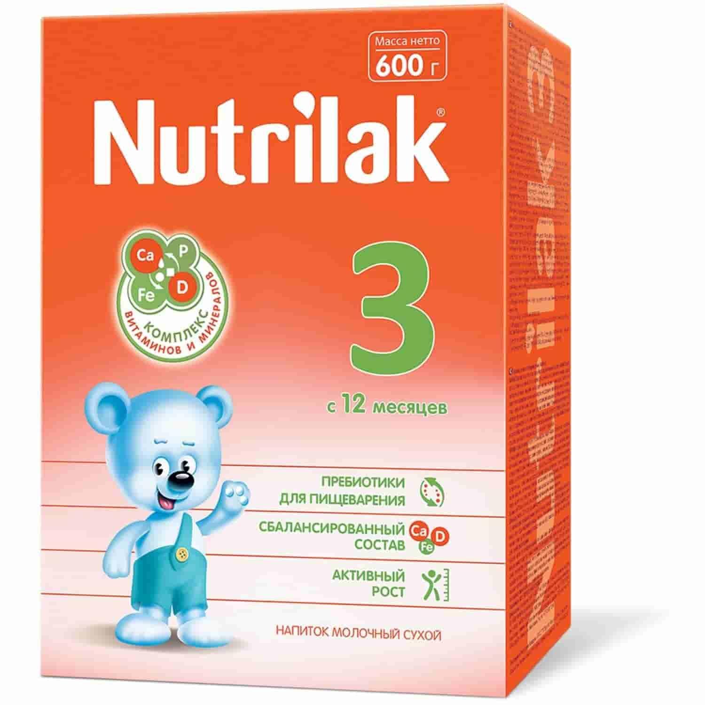 Молочная смесь Nutrilak 3 с 12 месяцев, 600 г
