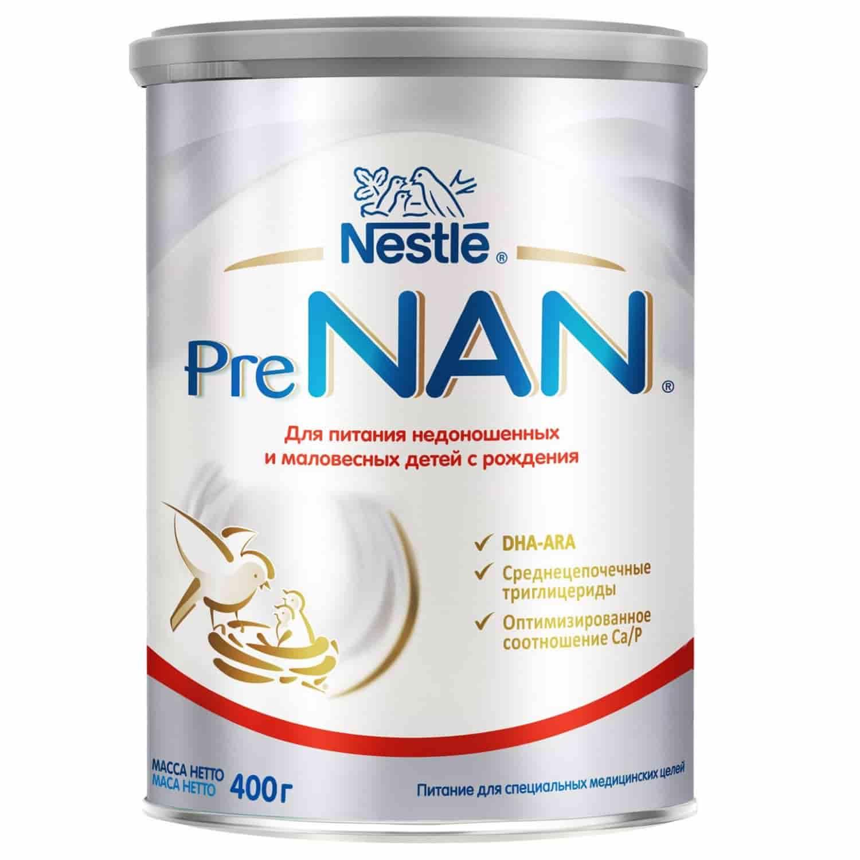 Смесь Нан PRE для недоношенных и маловесных детей 0-6 месяцев, 400 г